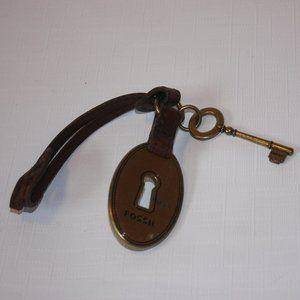 FOSSIL Key Chain Luggage Tag Lock and Key